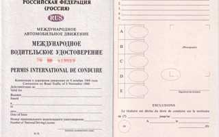 Как заполнить заявление о выдаче международного водительского удостоверения