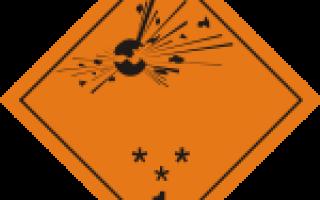 Маркировка транспорта при перевозке опасных грузов