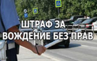 Ответственность за управление тс без водительского удостоверения